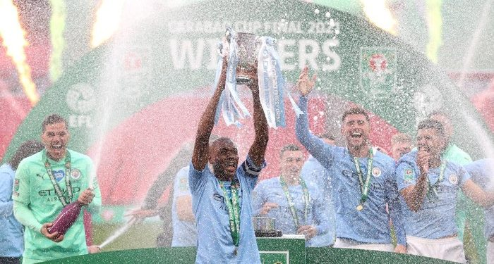 Manchester City juara Piala Liga Inggris 2020/2021. (Foto: Getty Images/Clive Rose)